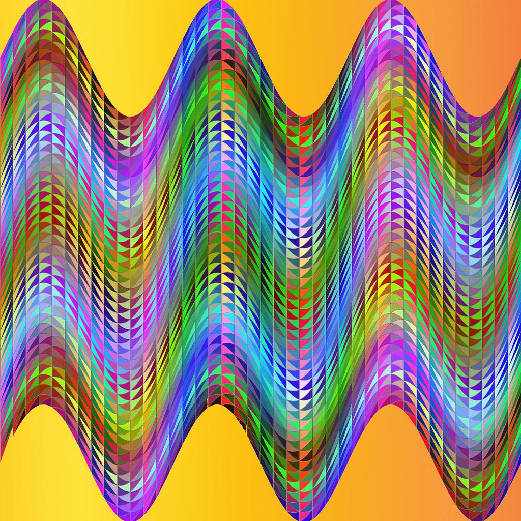 Op Art Colour Wave
