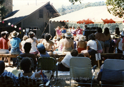 P024.227m.r.t Fat Lip Reader's Theater performing at West Coast Women's Music and Comedy Festival 1986 Day stage