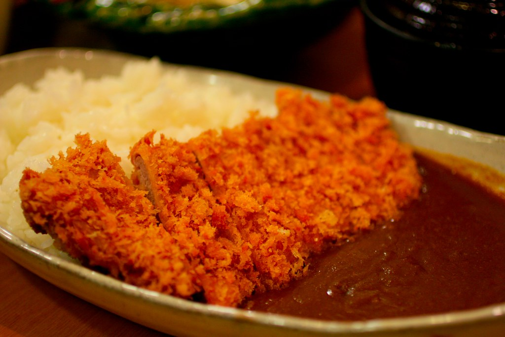 Japanese curry with fried pork