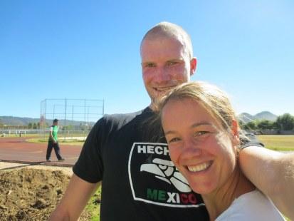 Steven and Diana at running track San Cristobal