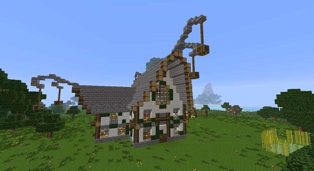Maison Elfique Elven Home Minecraft Une Jolie Petite Mais Flickr