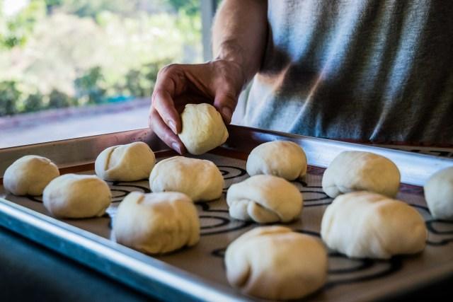 twelve little dough balls