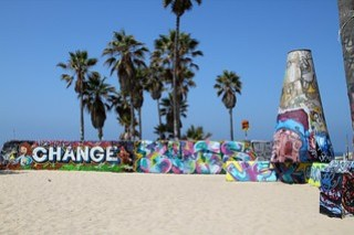 Graffiti area on Venice Beach