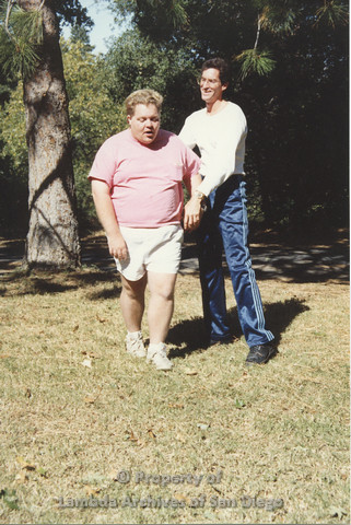 P001.233m.r.t Retreat 1991: 2 men outdoors