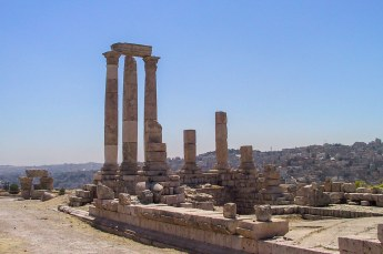Dit zijn de restanten van de tempel van Herculus.