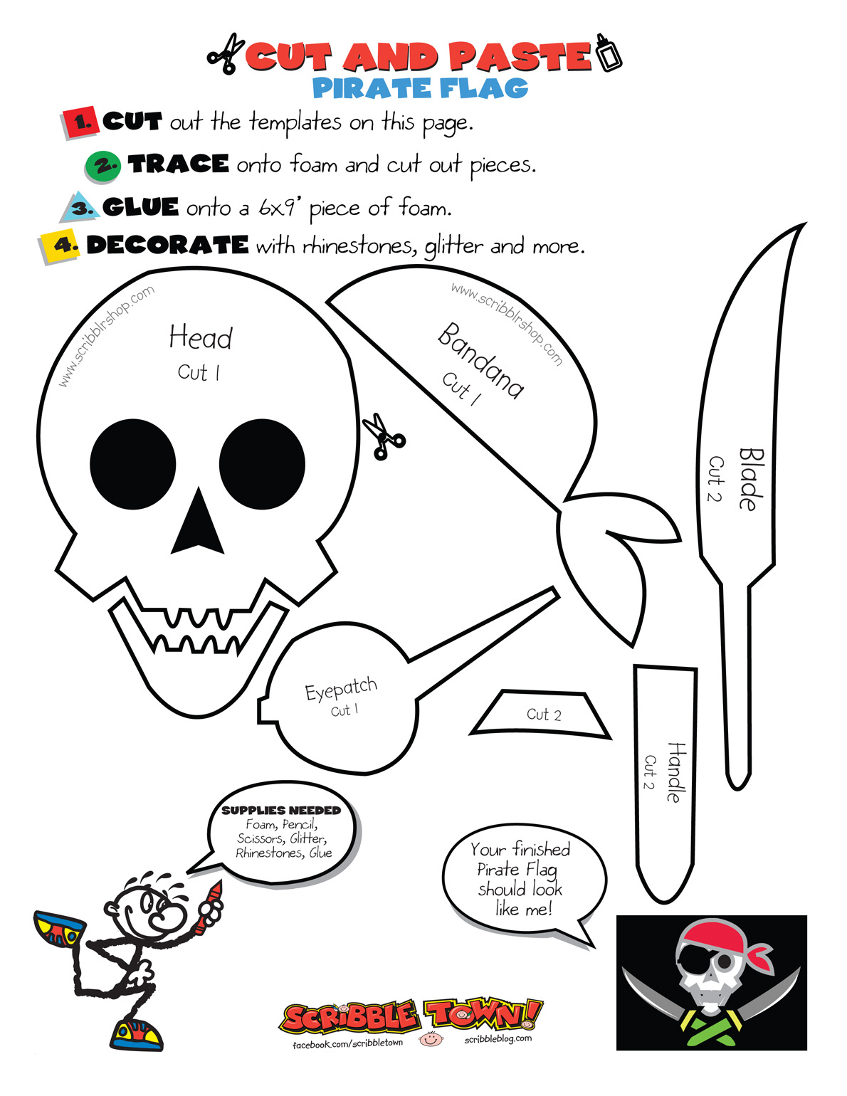 All Sizes Pirate Worksheet 2 Flickr