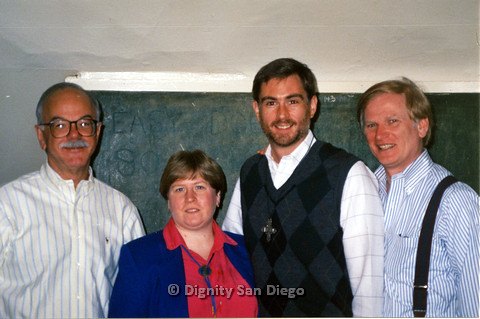 P103.137m.r.t Dignity San Diego: Close up of woman and three men posing for camera