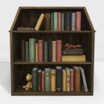Dollhouse Bookcase For Collabor88 This Month A Bookcase T