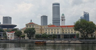 Old and new parliament, Singapore