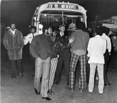 Police Clear Metrobus Strikers from Yard Entrance 1974 # 1