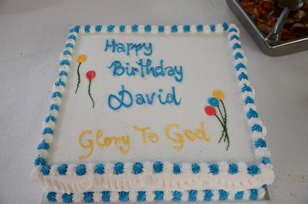 David S Birthday Cake Happy Birthday David Glory To God Flickr