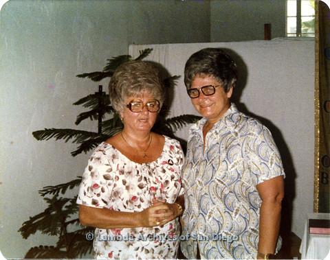 P110.061m.r.t Metropolitan Community Church: Two women posing for photo.