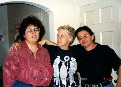 P024.343m.r.t Cory Baca (left), Sally Hopkins (center), and Nancy Groswich (right) pose together.
