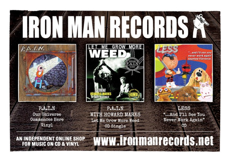 Iron Man Records - shop advert 150dpi