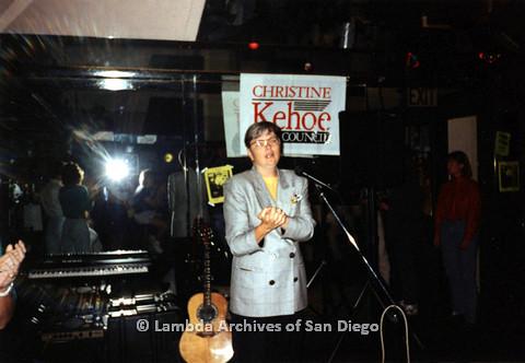 P151.019m.r.t Christine Kehoe speaking on stage
