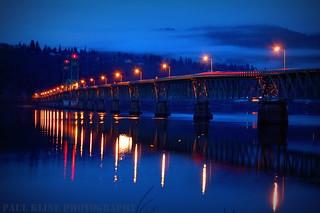 Hood River Bridge at Dawn