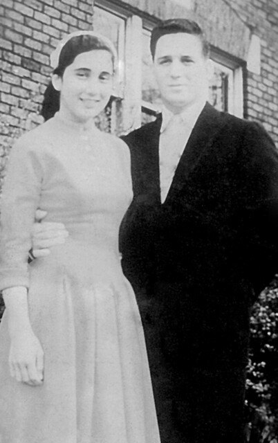 Nelson's Wedding Photo, 1958