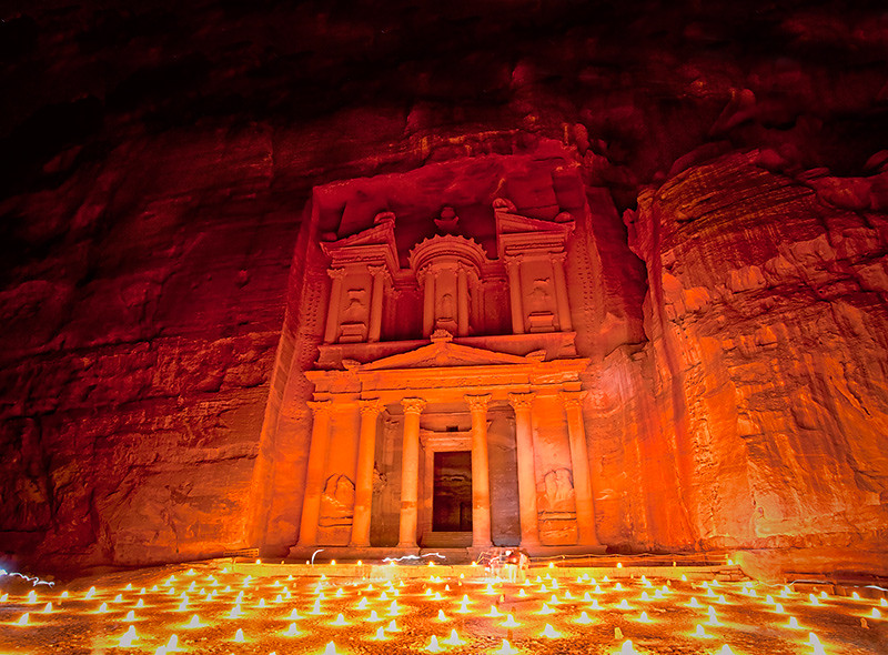 By candlelight (Petra)