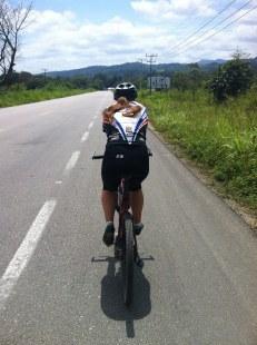 Diana cycling around Palenque