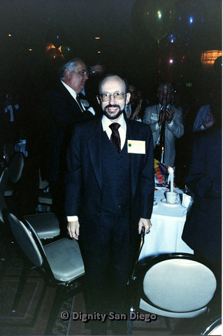 P103.125m.r.t Dignity Ninth Biennial Convention 1989: Man in tuxedo, smiling at camera
