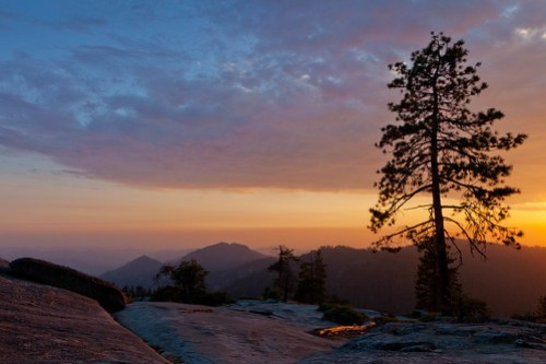 Beetle Rock Sunset #1, Sequoia National Park