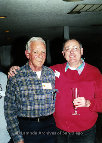 P040.089m.r.t SAGE General Meeting; from left to right: Gene Barton and Ray Tibbs