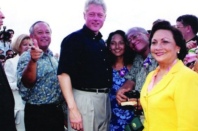 Gutierrez - Bordallo and President Clinton
