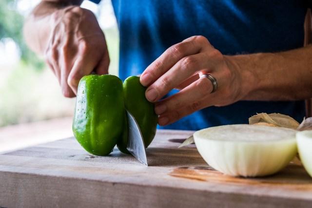 juicy green bell pepper