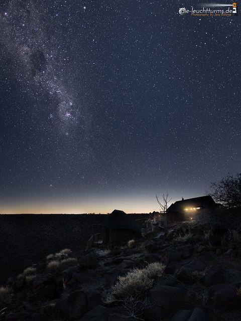 Milky way above the Etendeka Plateau