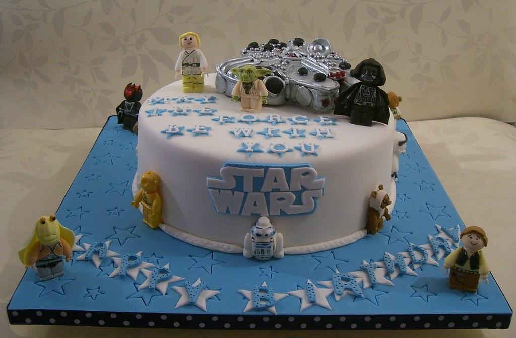Star Wars Birthday Cake Loved Making Those Little Figures Flickr