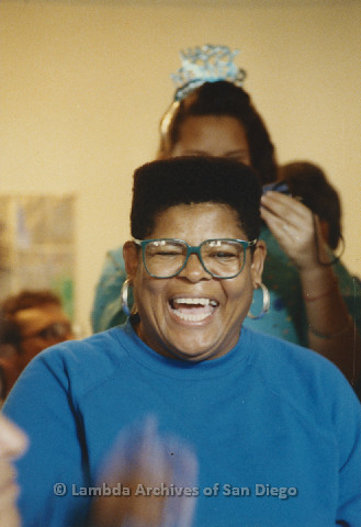 P125.031m.r.t Phyllis Jackson smiling widely during a celebration