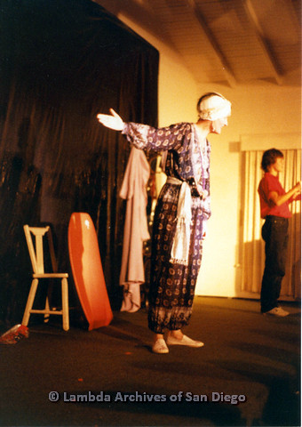 P024.173m.r.t Judith McConnell gesturing while on middle of stage