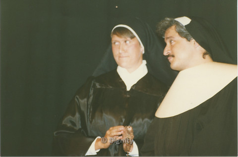 P104.061m.r.t Dignity San Diego: Two people wearing nun habits