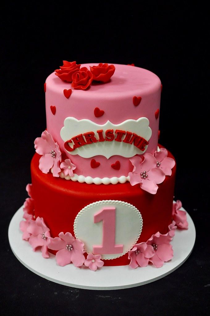 Hello Kitty Themed Birthday Cake Jenny Wenny Flickr