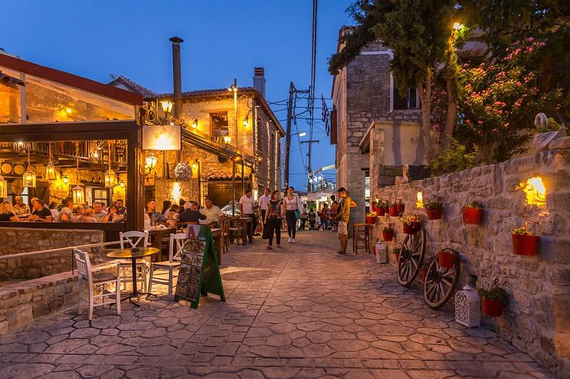 Cheerful Evening in Afytos