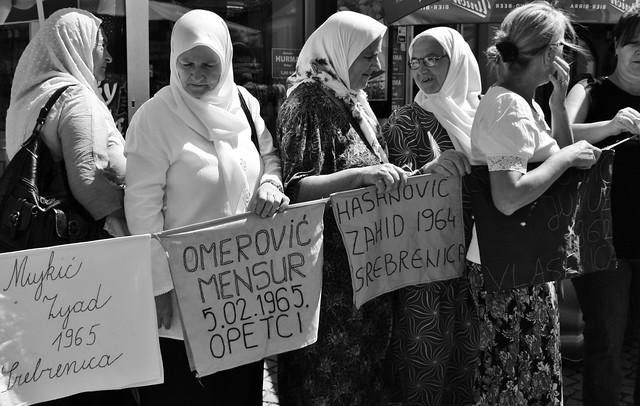 Women Of Srebrenica Protest