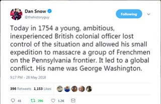 Dan Snow Tweet - George Washington
