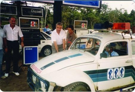 1986 - Inauguração do Posto Esso na Av. Marginal