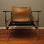 Knoll Charles Pollock Leather Sling Chair 657 Natalie