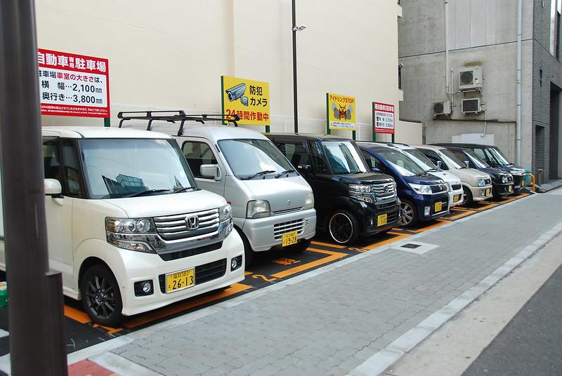 Kei-cars en Nipponbashi
