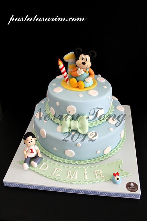 Baby Mickey Mouse Cake Demir 1st Birthday Medium Flickr