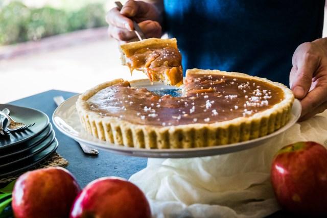 salted caramel apple tart
