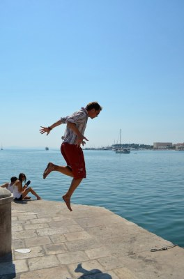 Jumping in Croatia