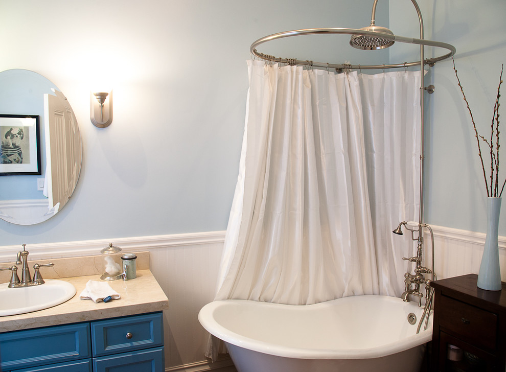 easy way to make shower curtain rod for