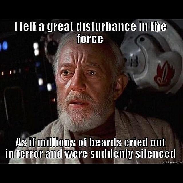 When No Shave November Ended Obiwan Starwars Jedi Mem Flickr