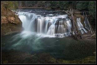 Lower Lewis River Falls (Normal Polarizer)