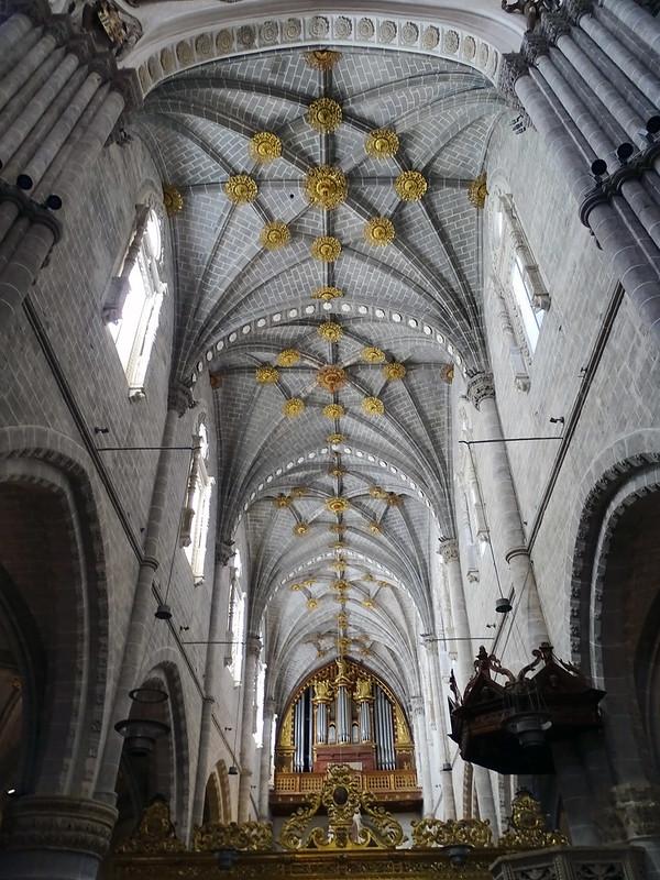 Organo y boveda interior Catedral de Nuestra Señora de la Huerta de Tarazona Zaragoza 01