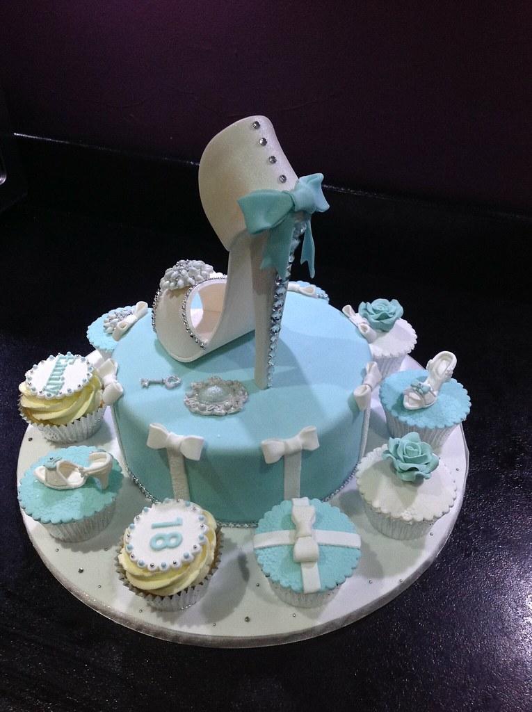Tiffany Cake Shoe Cake 18th Birthday Cake Andria Payne