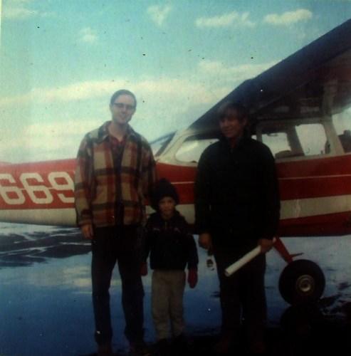 5th birthday plane ride, 1971