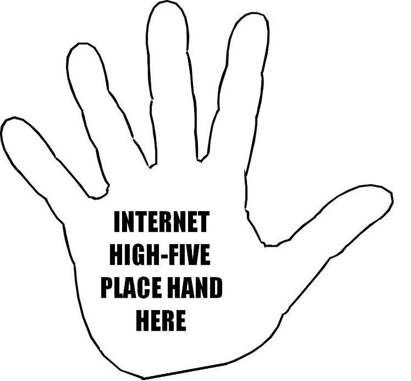 Image result for virtual high-five